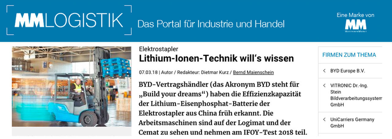 GSK-News: mm-logistik.vogel.de Lithium-Ionen-Technik will's wissen